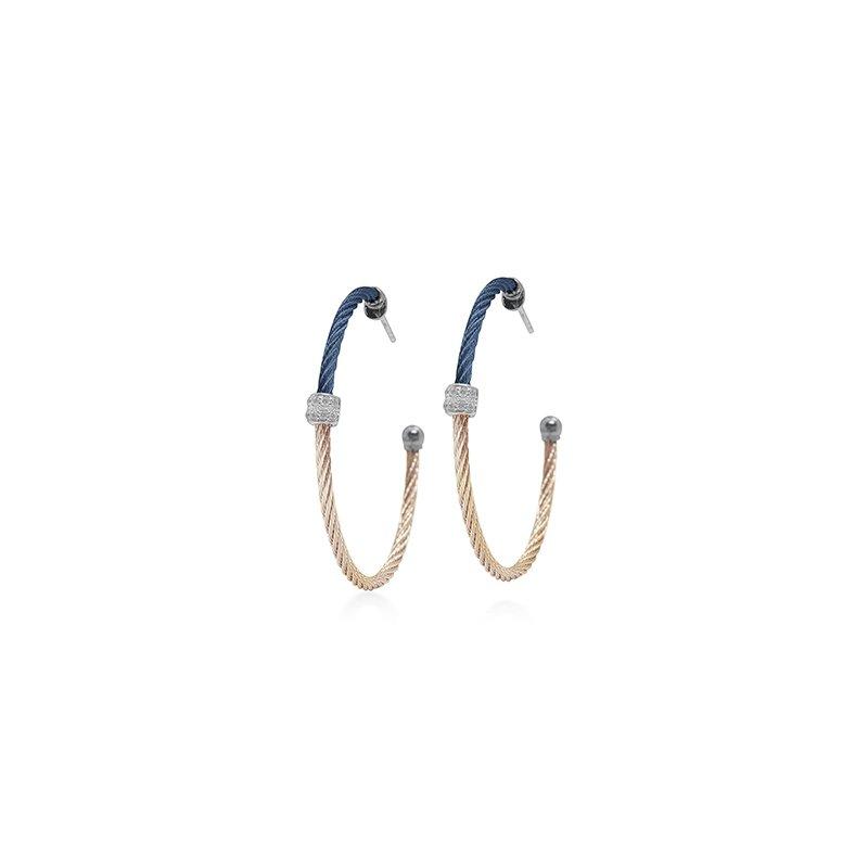 ALOR Colorblock Hoop Earrings