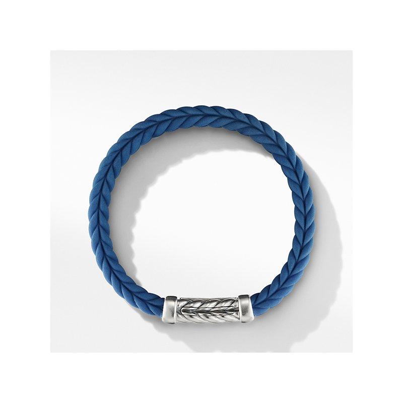 David Yurman Chevron Blue Rubber Link Bracelet