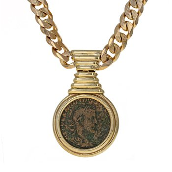 Roman Coin Chain Necklace