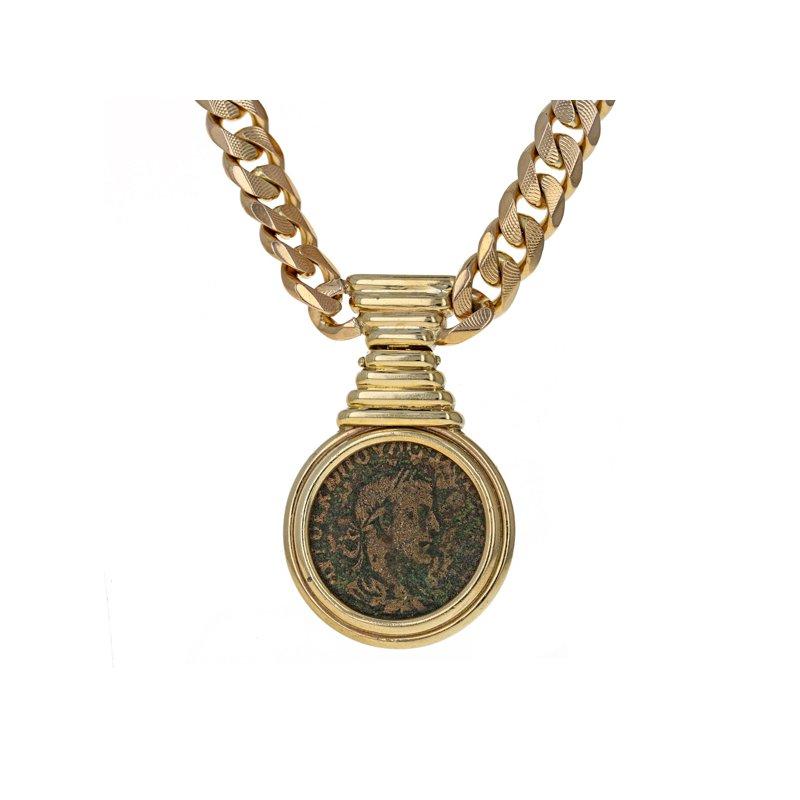 Estate Radcliffe Roman Coin Chain Necklace