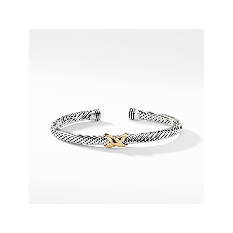 David Yurman X Bracelet with Gold