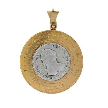 Gold & Silver Coin Pendant