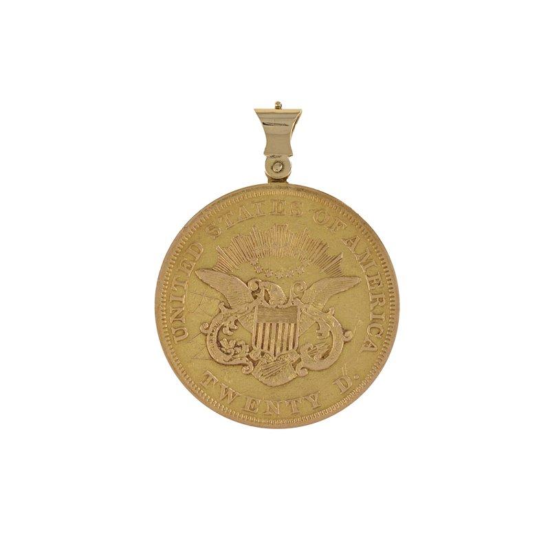 Estate Radcliffe Gold & Silver Coin Pendant