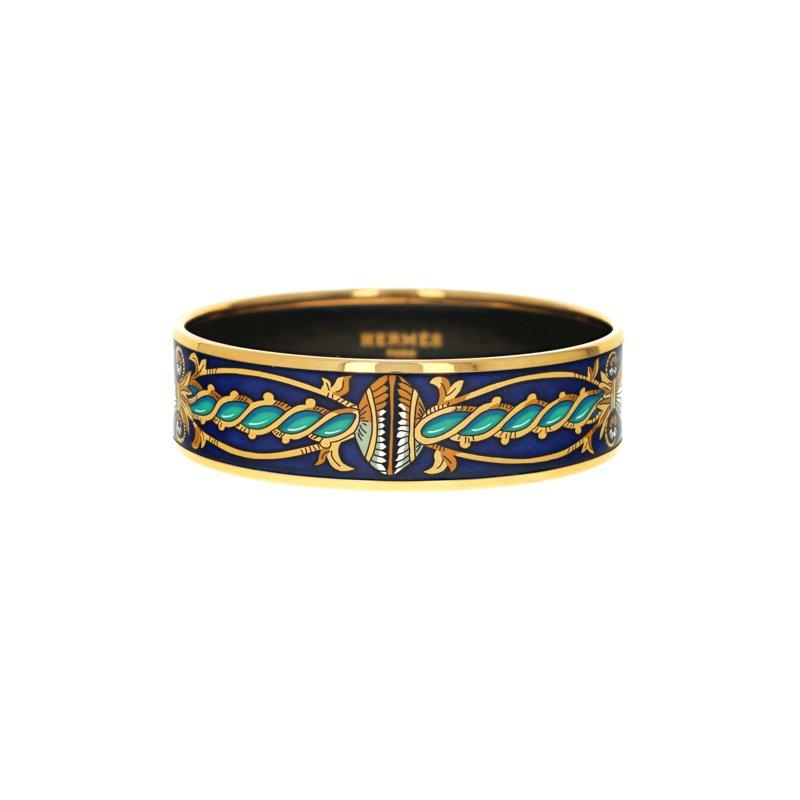 Hermes Wide Twisted Tassel Bangle
