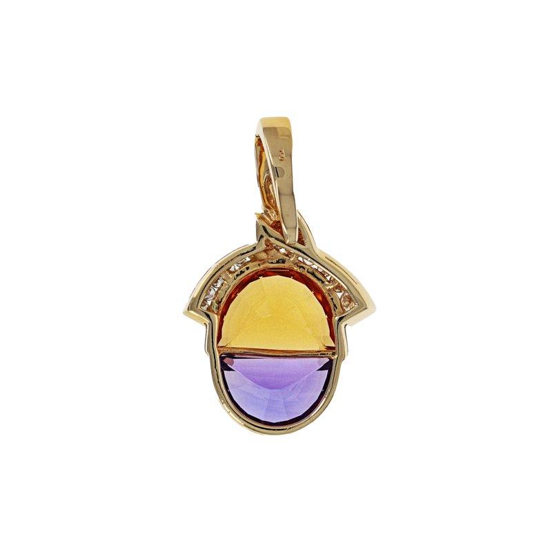 Estate Radcliffe Diamond, Amethyst & Citrine Pendant