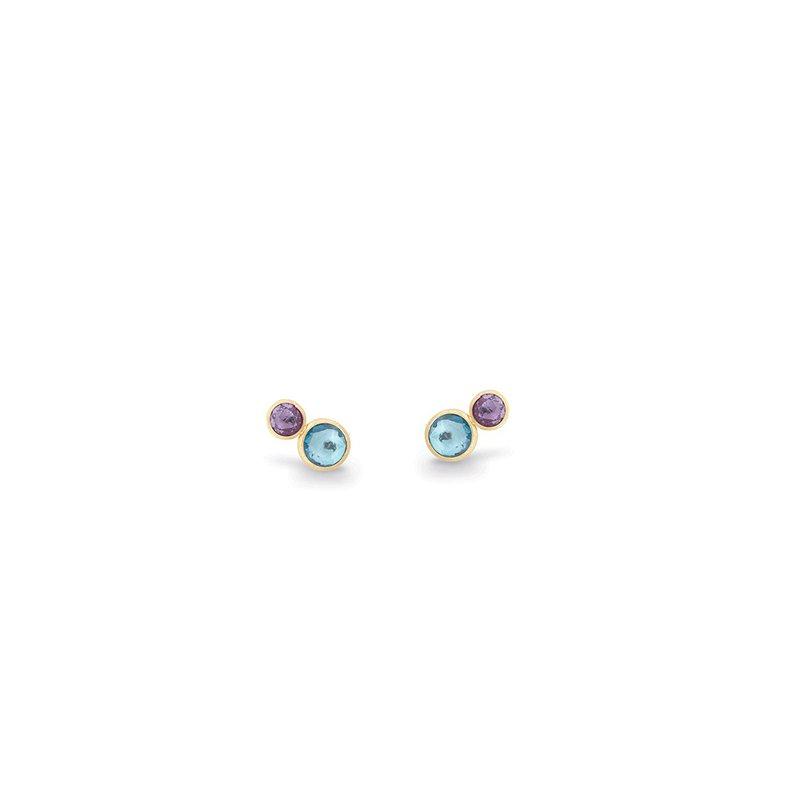 Marco Bicego Jaipur Blue Topaz & Amethyst Earrings