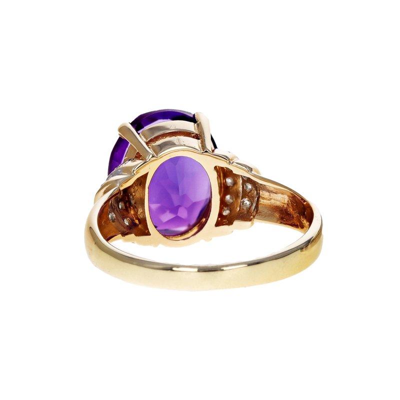 Estate Radcliffe Amethyst & Diamond Ring
