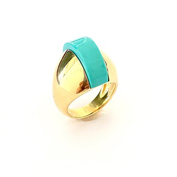 Turquoise Domed Ring