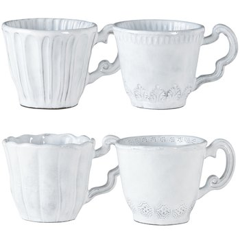 Incanto White Assorted Mugs