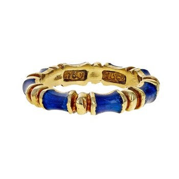 Enamel Bamboo Ring