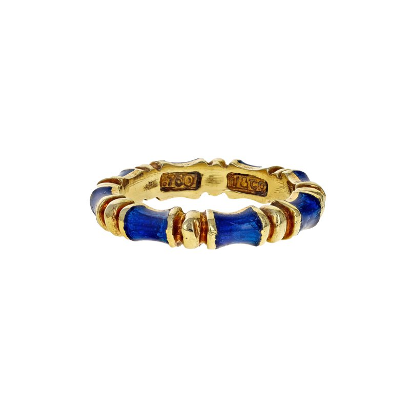 Estate Tiffany & Co. Enamel Bamboo Ring
