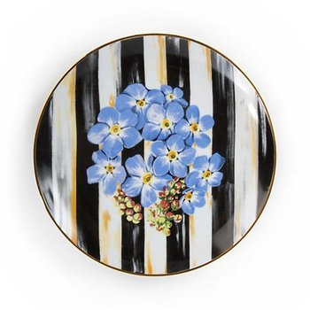 Thistle & Bee Salad Plate, Forget-Me-Not