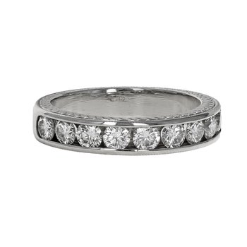Channel Set Half Diamond Band