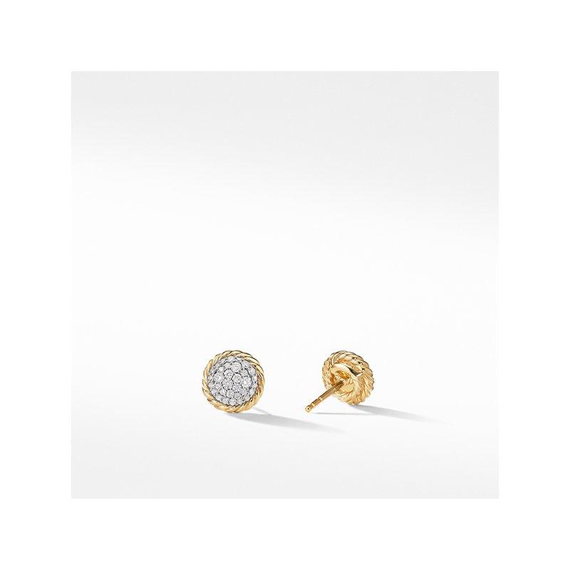 David Yurman Chatelaine Earrings with Diamonds in Gold