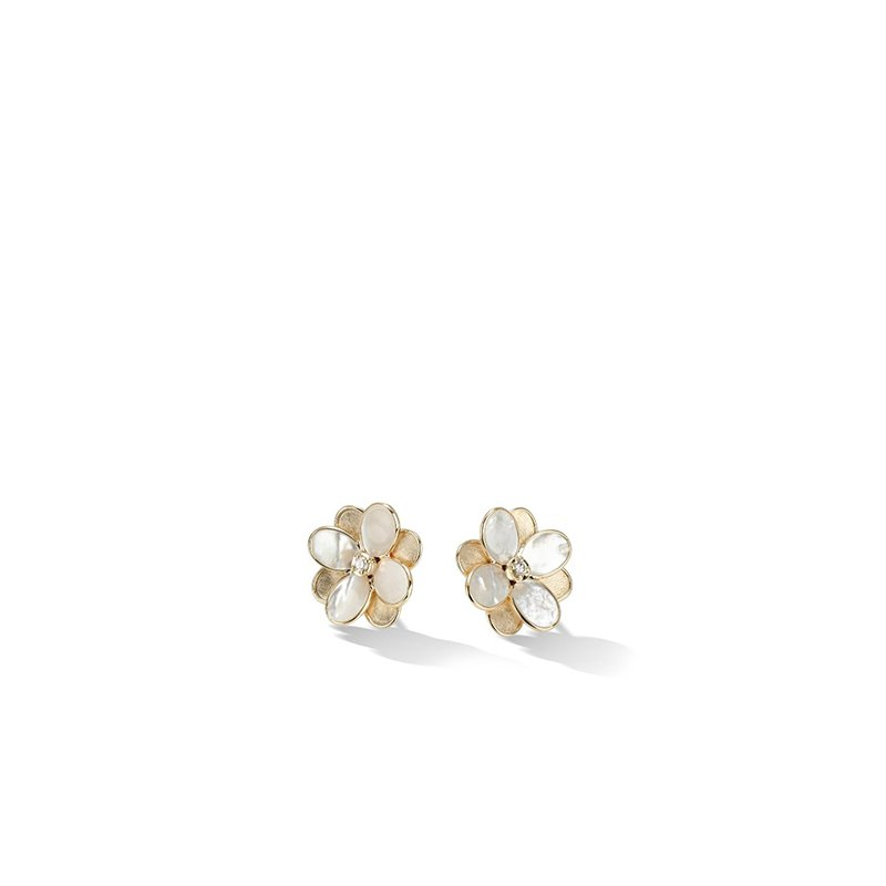 Marco Bicego Petali Collection Flower Stud Earrings