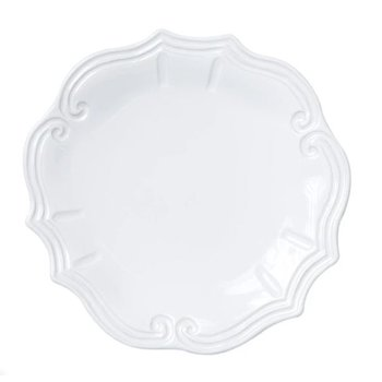 Incanto Stone White Baroque Dinner Plate