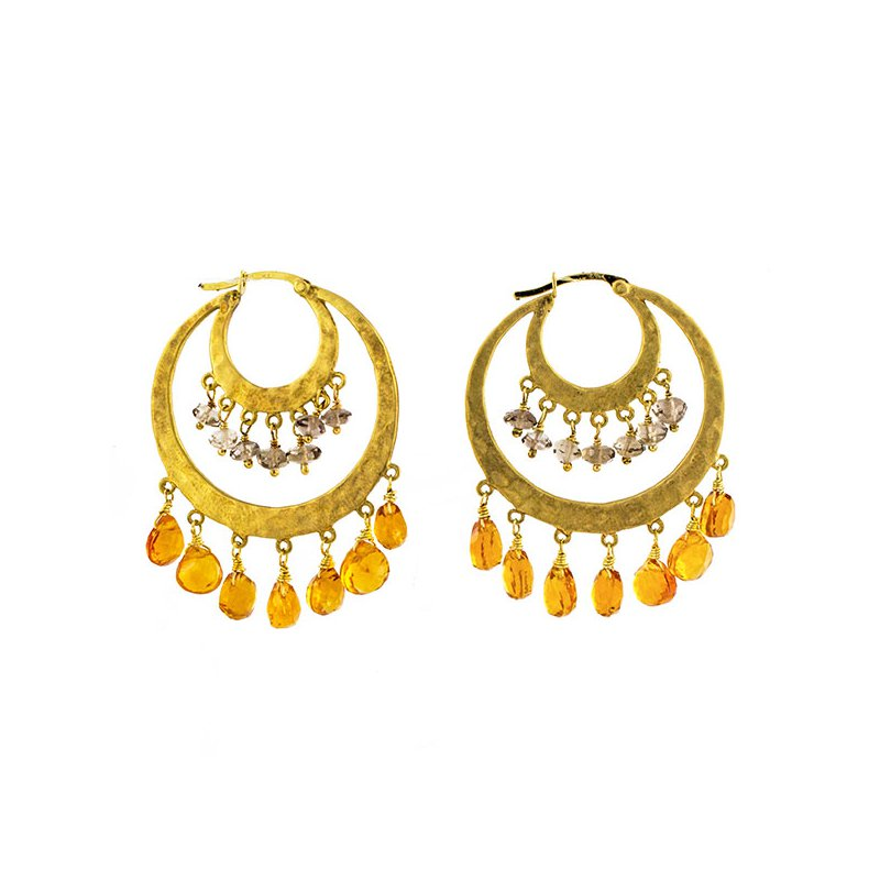 Estate Radcliffe Citrine Briolette Earrings