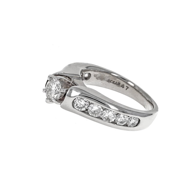 Estate Radcliffe Round Diamond Engagement Ring
