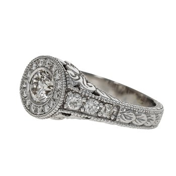 Decorative Diamond Halo Ring