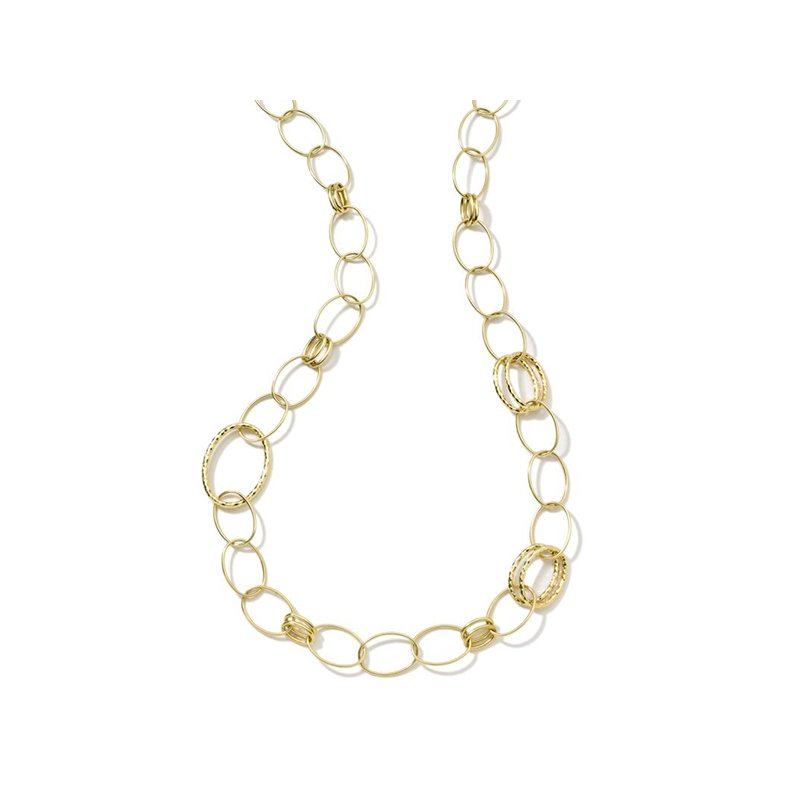 Ippolita Classico Long Hammered Bastille Link Necklace