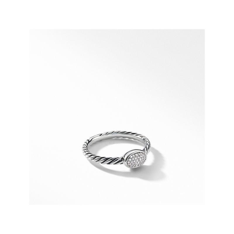 David Yurman Petite Pave Oval Ring with Diamonds