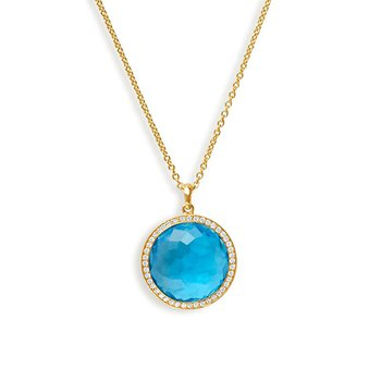 Lollipop Medium Swiss Blue Topaz Pendant