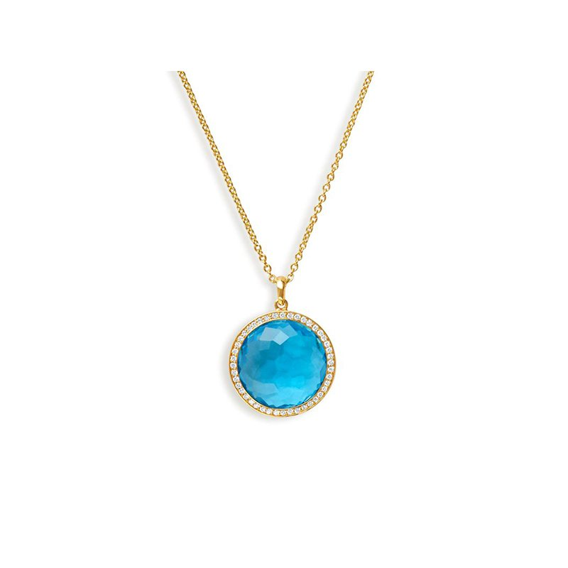 Ippolita Lollipop Medium Swiss Blue Topaz Pendant
