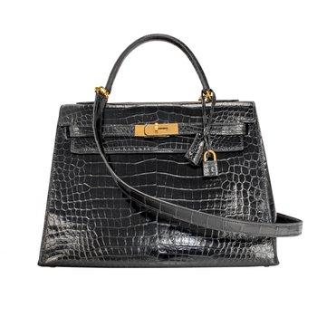 32cm Crocodile Kelly Bag