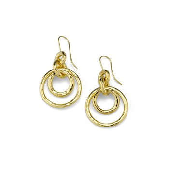 Classico Puffy Hammered Jet Set Earrings