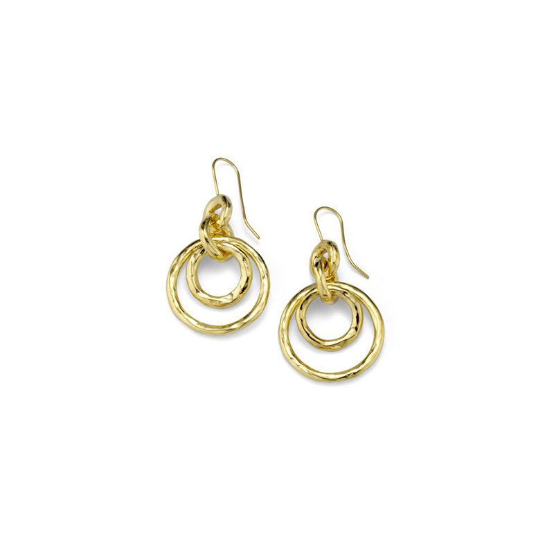 Ippolita Classico Puffy Hammered Jet Set Earrings