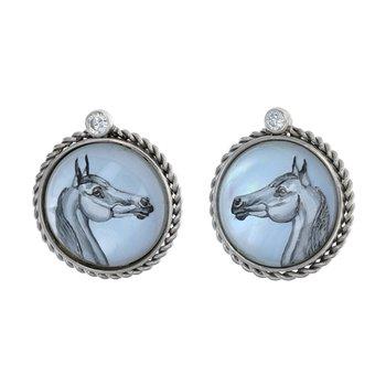 Diamond Painted Horse Earrings
