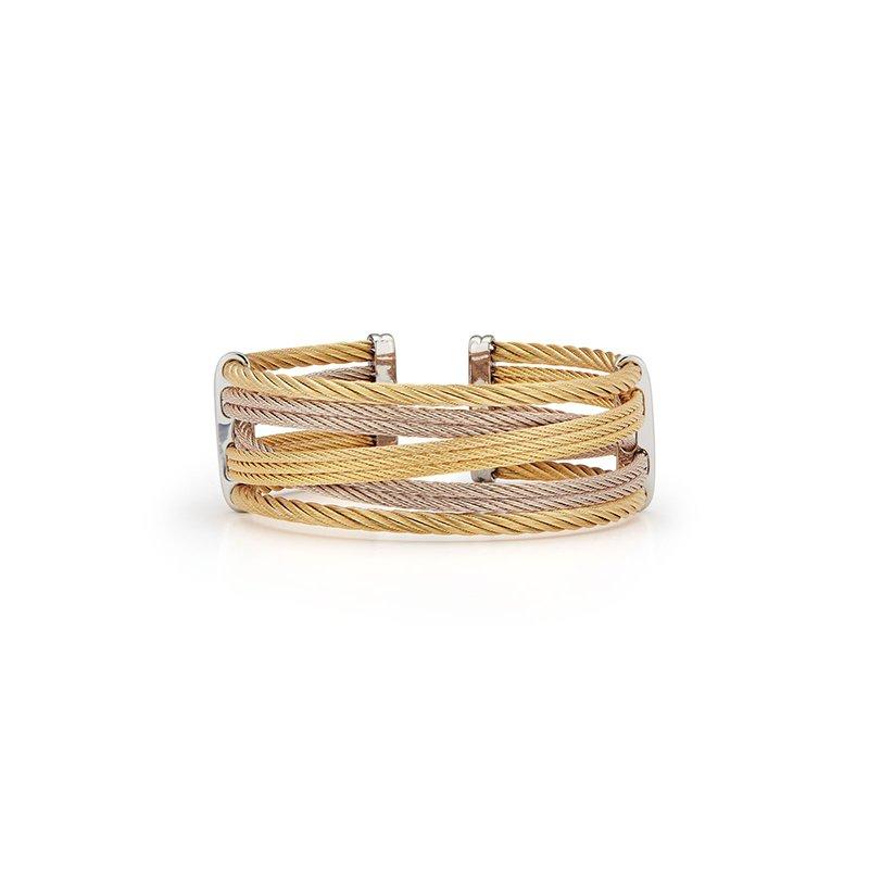 ALOR Yellow & Carnation Cable Petite Interlaced Bracelet