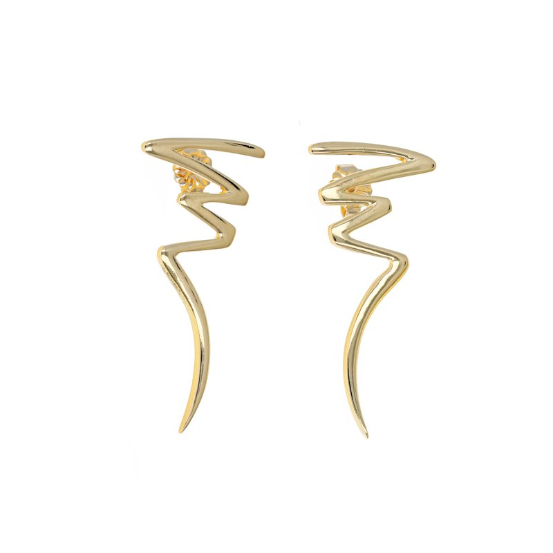 Estate Tiffany & Co. Paloma Picasso Zig Zag Earrings