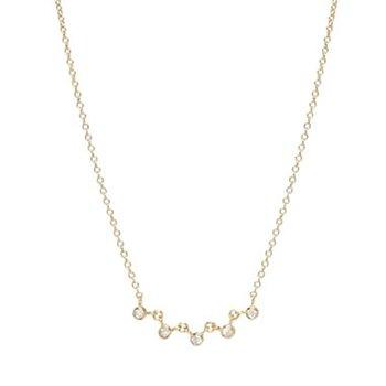 Linked Bezel Set Diamond Necklace