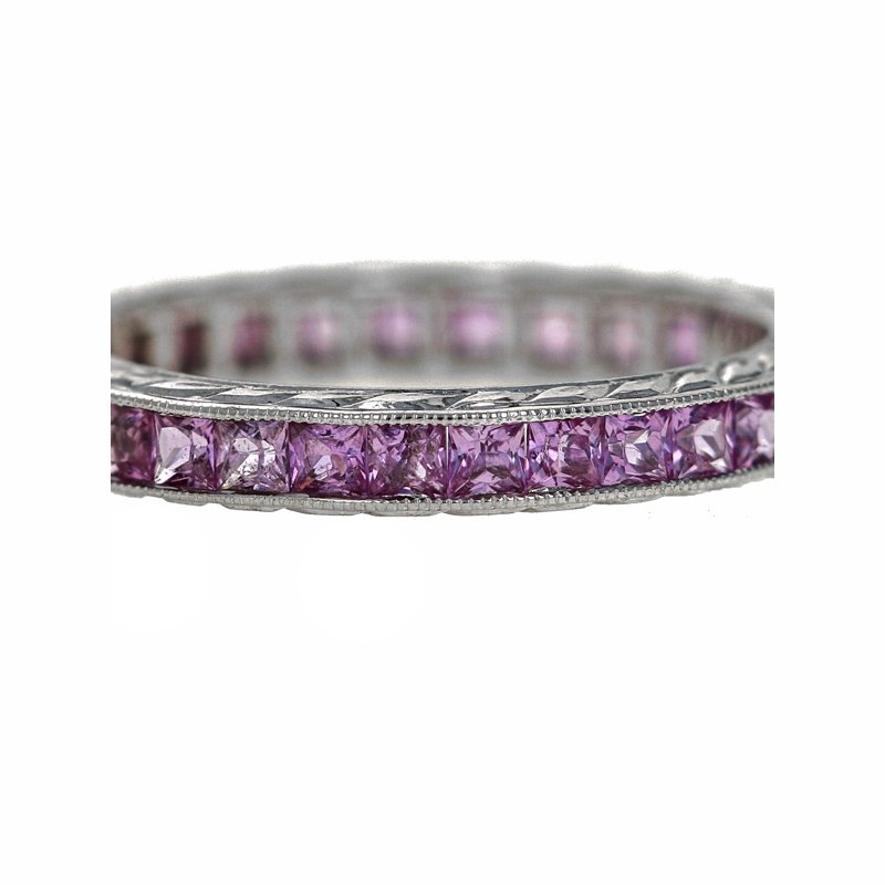 Estate Radcliffe Pink Sapphire Eternity Band