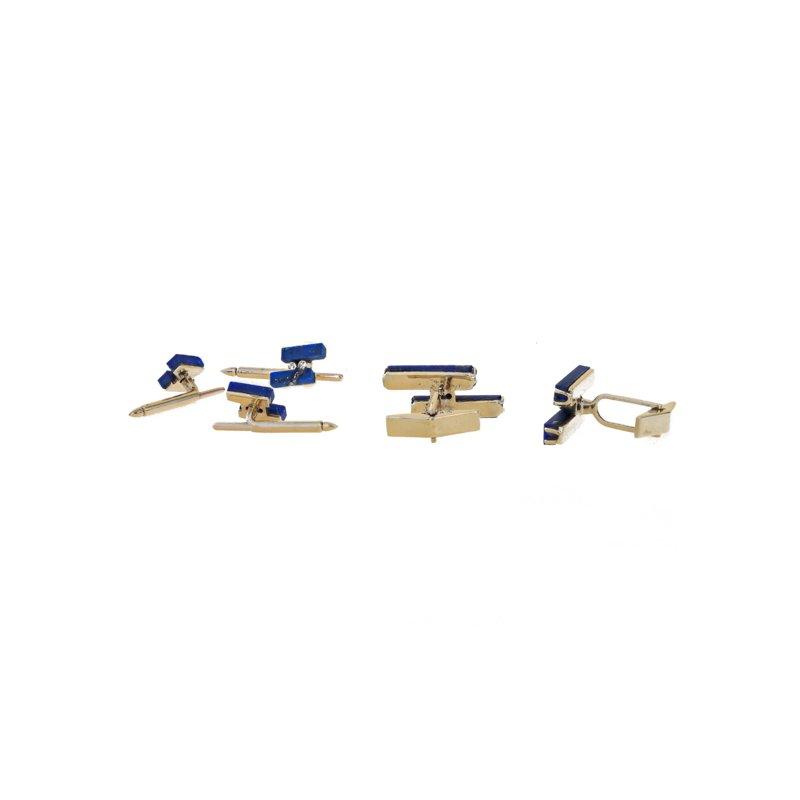 Estate Radcliffe Lapis & Diamond Cufflink / Shirt Stud Set