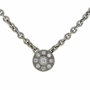 Sliding Diamond Pendant Necklace