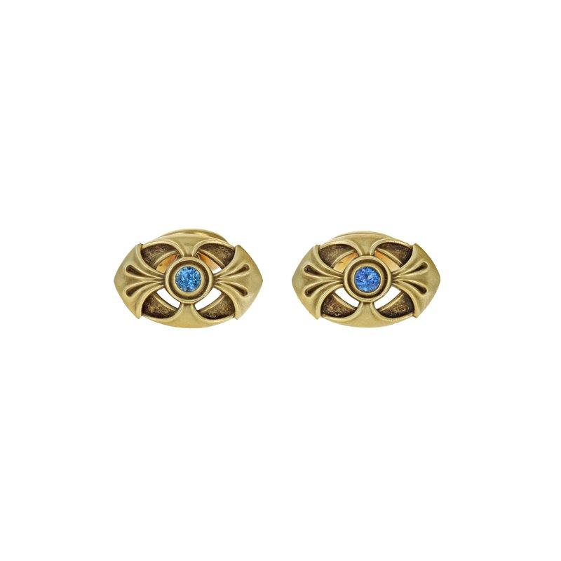 Estate Radcliffe Art Nouveau Sapphire Cufflinks