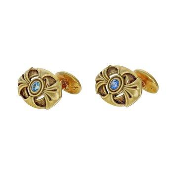 Art Nouveau Sapphire Cufflinks