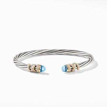 Helena Bracelet with Blue topaz and Diamonds