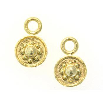 """Gold """"Daisy"""" Earring Pendants"""