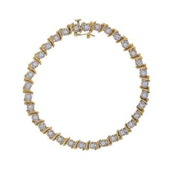"Diamond ""S"" Link Tennis Bracelet"