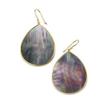 Polished Rock Candy Jumbo Stone Teardrop Earrings