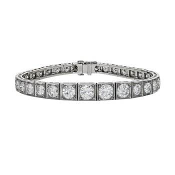 Art Deco Diamond Block Bracelet