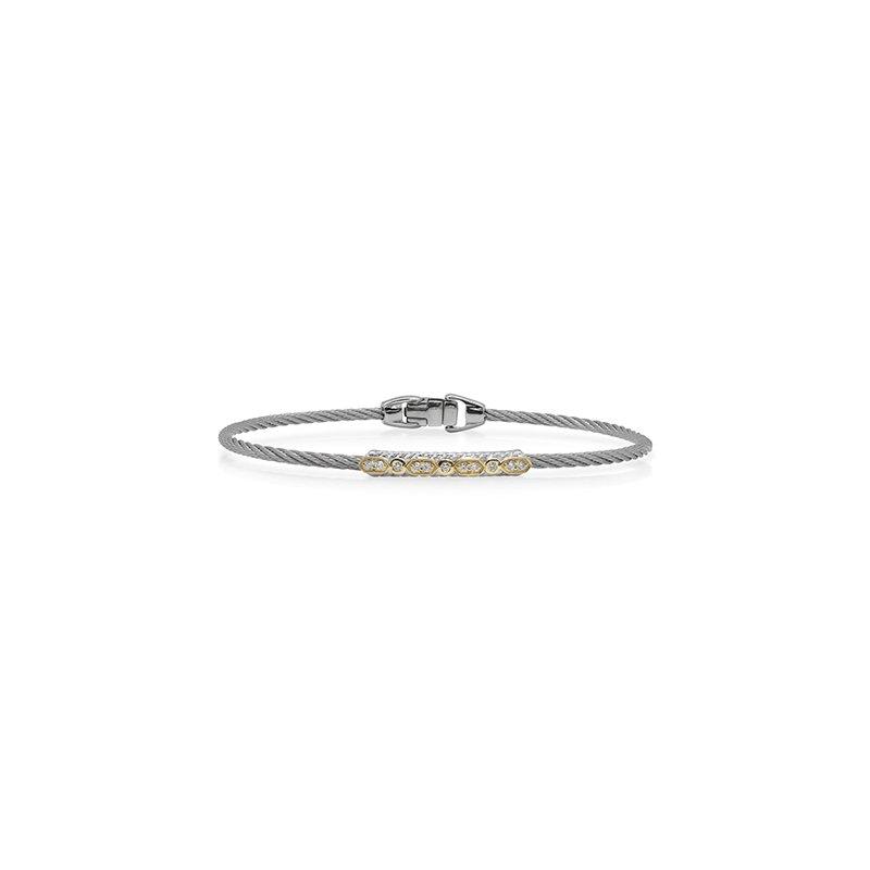 ALOR Grey Cable Delicate Twist Bracelet