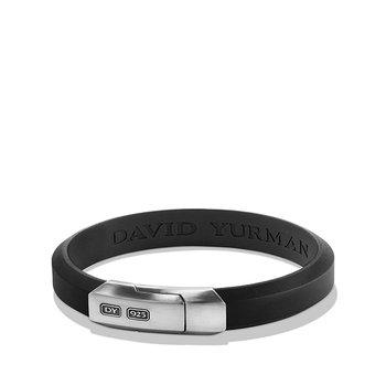 Streamline Rubber ID Bracelet in Black