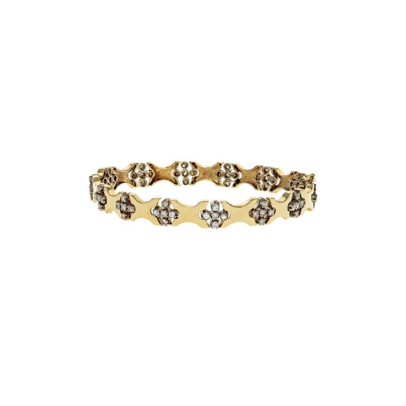 Estate Radcliffe Cross Station Diamond Bracelet