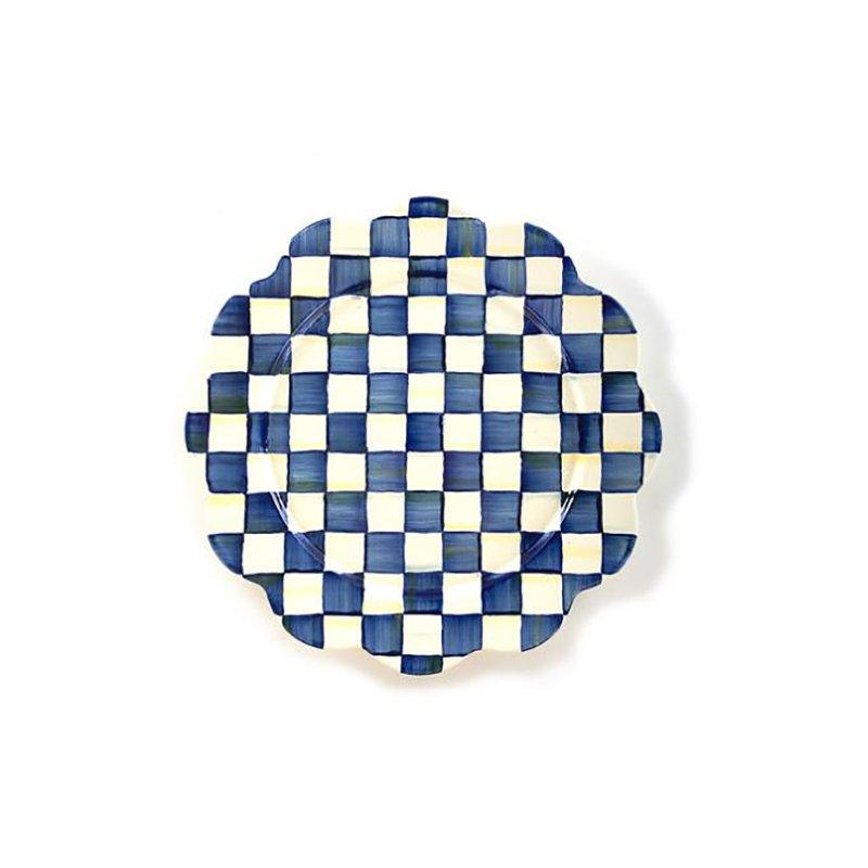 Mackenzie-Childs Royal Check Petal Platter