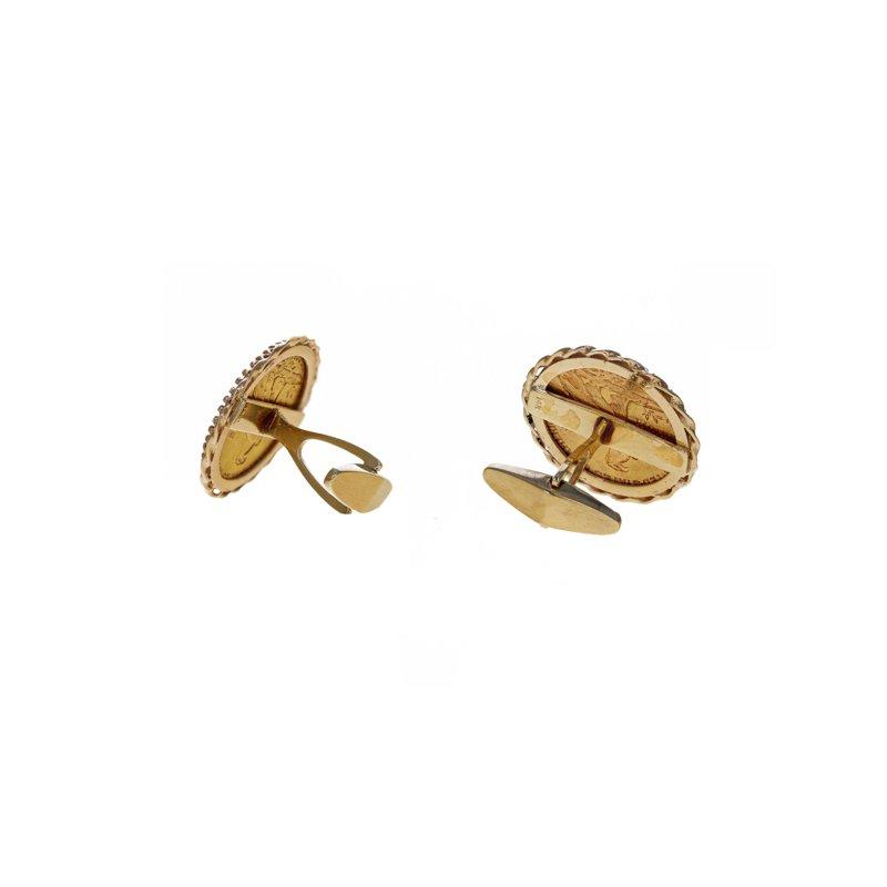 Estate Radcliffe Indian Gold Coin Cufflinks