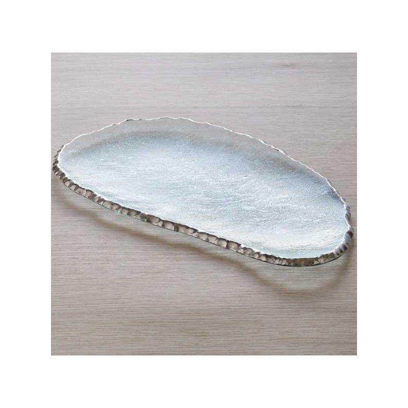 Annieglass Edgey Platinum Cheese Board